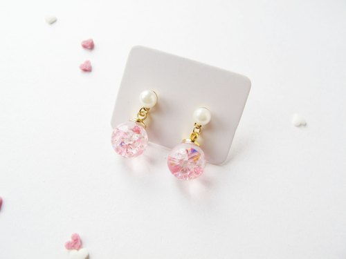Rosy Garden Cherry blossom pink crystal earrings