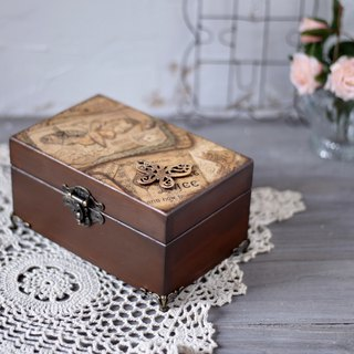 Classical vintage oil wooden box 28 grid 15ml dip pen ink box jewelry box
