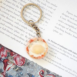 Shell in Frame Key Chain/Bag Chain