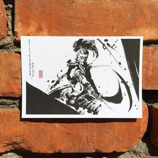 [Ink postcards] Date Masamune (5)