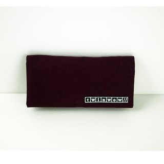 Elegant and Lightweight - Fine Textured Long Clip / Clutch - Violet