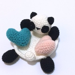 Aprilnana_Office worker healing small panda woven small storage tray