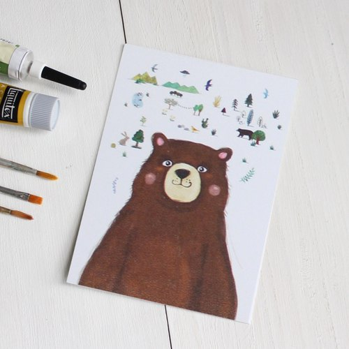 Brown Bear's story Postcard I Lena & Animal Friends