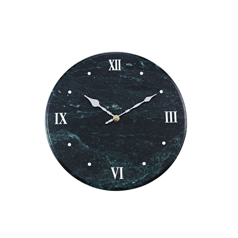 Natural marble clock [elegant green] European and American style home fashion art taste decorative wall clock