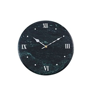 Natural marble clock [green] elegant European style fashion artistic taste of home decorative wall clock amplifier