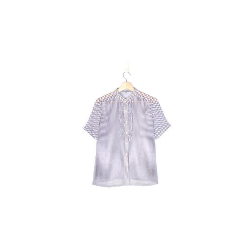 [Vintage] egg plant life simple short-sleeved shirt printing vintage