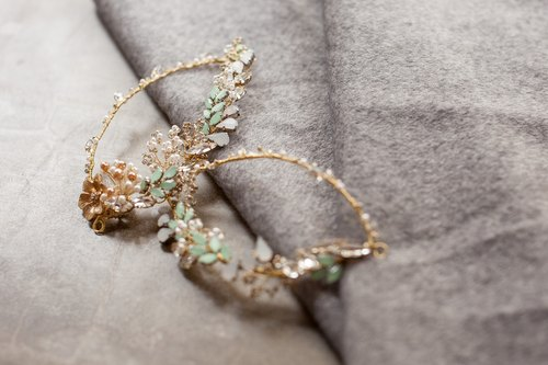 [Lori] bridal hair accessories handmade wedding jewelry