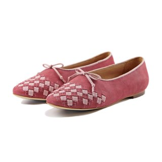 PLAYGAME W1059 Burgundy leather flats