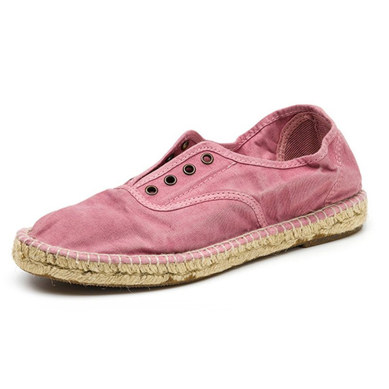 Spanish handmade canvas shoes / 620E straw shoes / women's / 603 dry roses