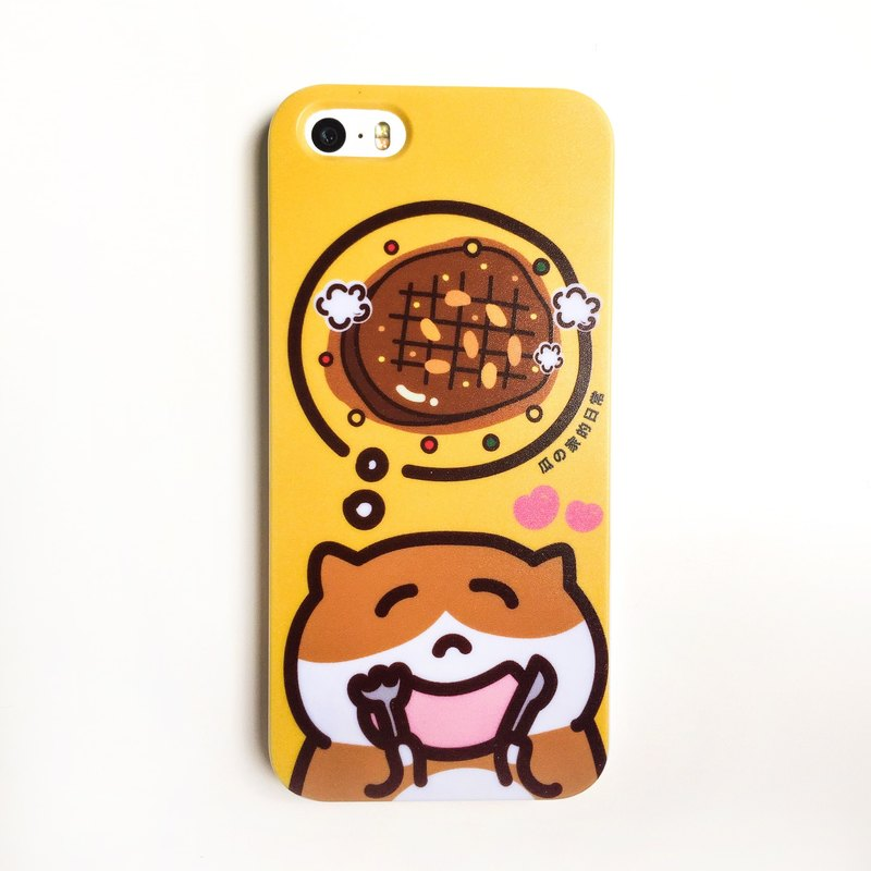 吃牛排の貓 手機殼 ( IPHONE HTC 三星 SONY)  Steak phone case