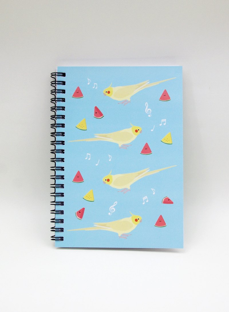 Cockatiel Watermelon Ring Notebook (Summer Symphony)