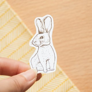 [Animal series # 3 monochrome bunny coloring sticker pack 5