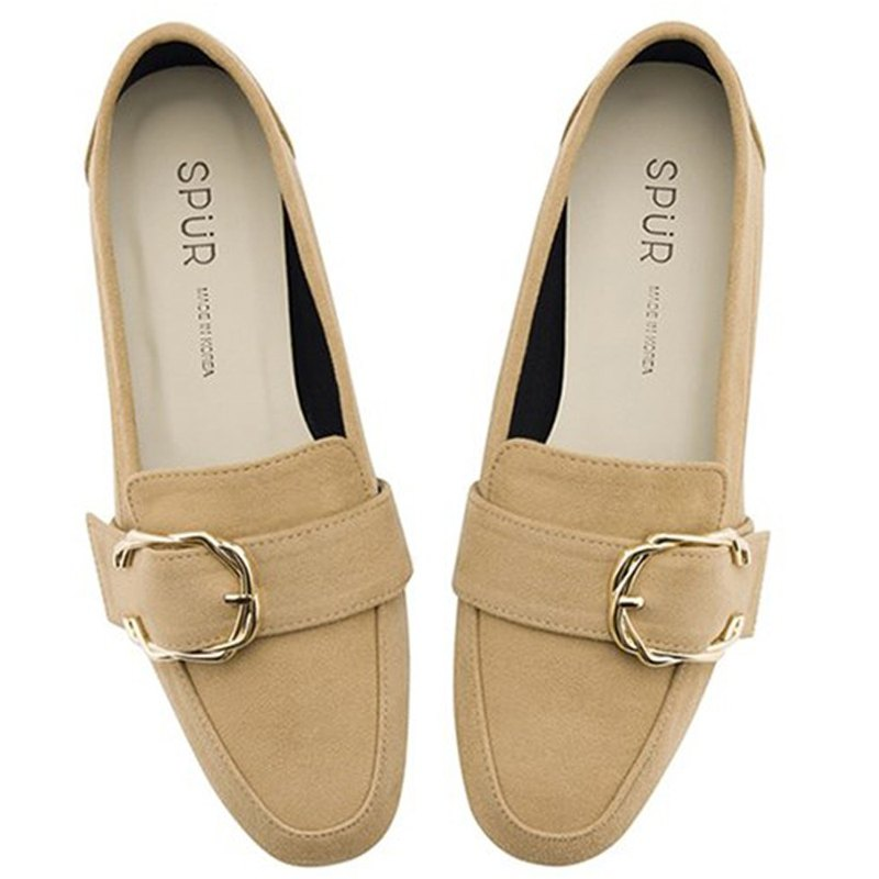 Pre-Order SPUR Twisted buckle loafer OF9023 SAND