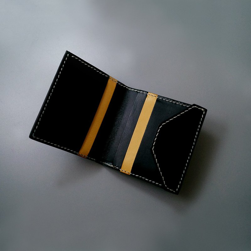 Slim Mixed Color 6-Card Short Wallet。Leather Stitching Pack。BSP120