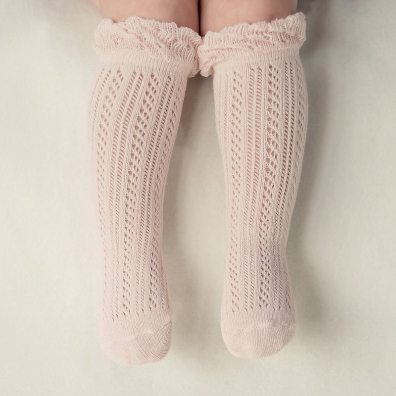 Happy Prince Korean-made Double Ray Lace Hollow Baby Girl Knee Socks