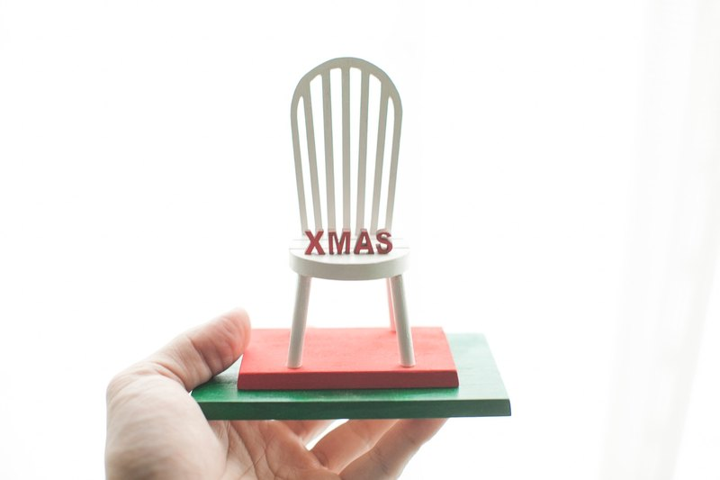 Christmas exchange gift log chair shape cell phone seat