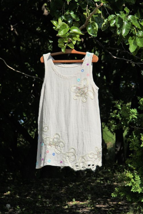Cotton flowers and fairy tunic dress