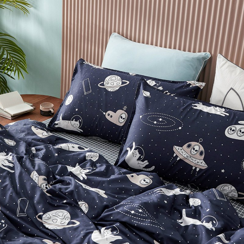 Star Trek single bed single bed / bed bag hand-painted cat 40 cotton bedding pillowcase quilt cover