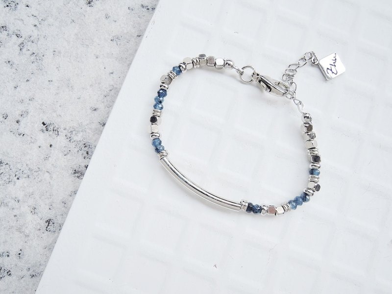 . Zhu tube bead bracelets - Blue Awareness