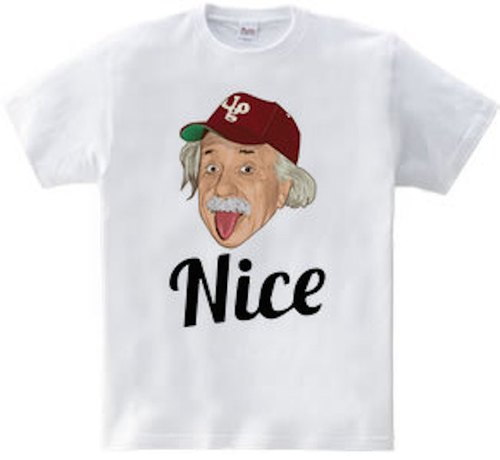 Einstein nice (Heavyweight T-shirt white · gray)