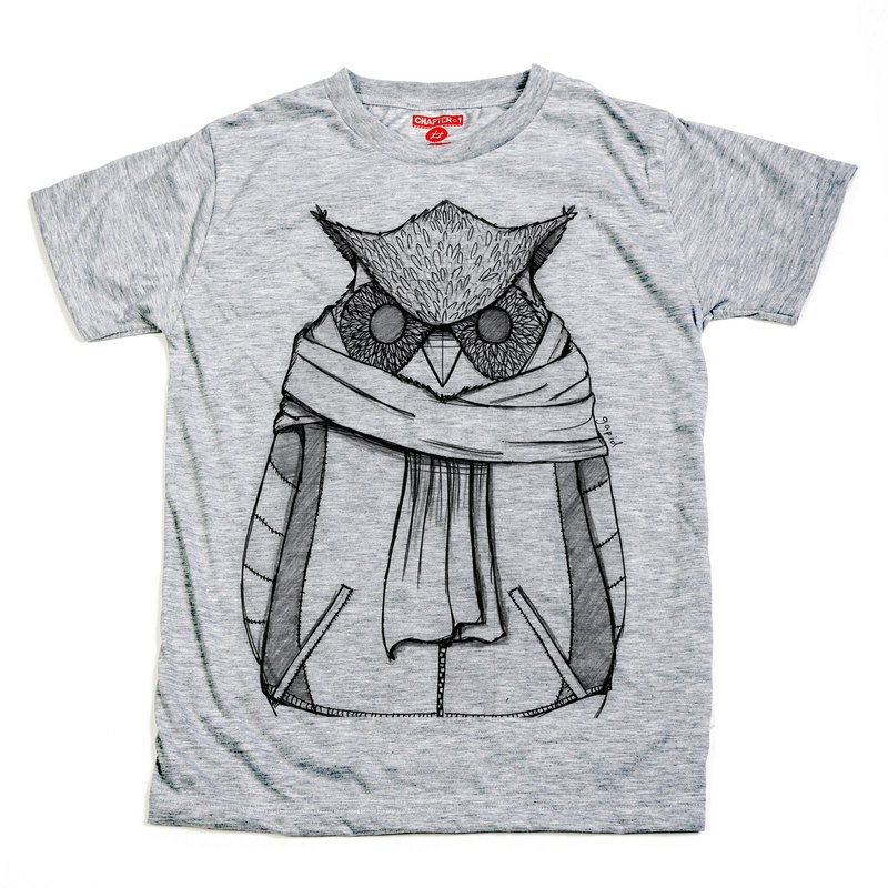 The Owl unisex men woman cotton mix Chapter One T-shirt