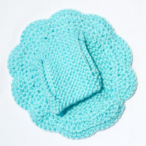 I was a flower Yuan Zai hand-knit cap (L)
