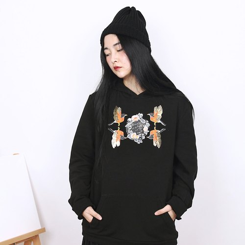 Shaoyaoju original design golden sparrow retro print velvet thick sweater Limited