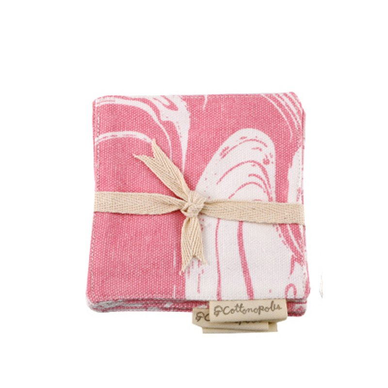 Coaster - Set of 4 - Lava Pink
