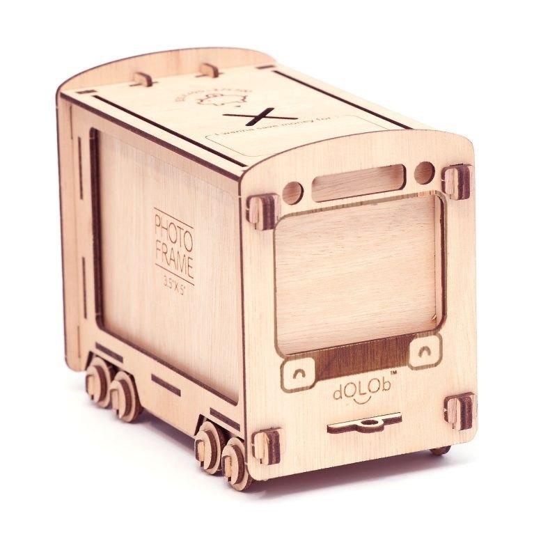 dOLOb-DIY木質-連結電車-3.5X5吋相框+撲滿-耶誕交換禮物