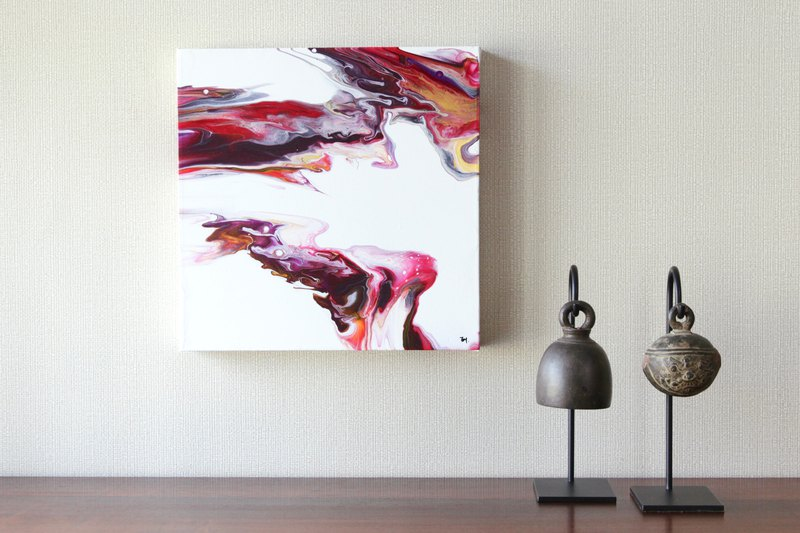 Burgundy Mist . Original Acrylic Painting . Abstract Wall Art . Home Deco Art