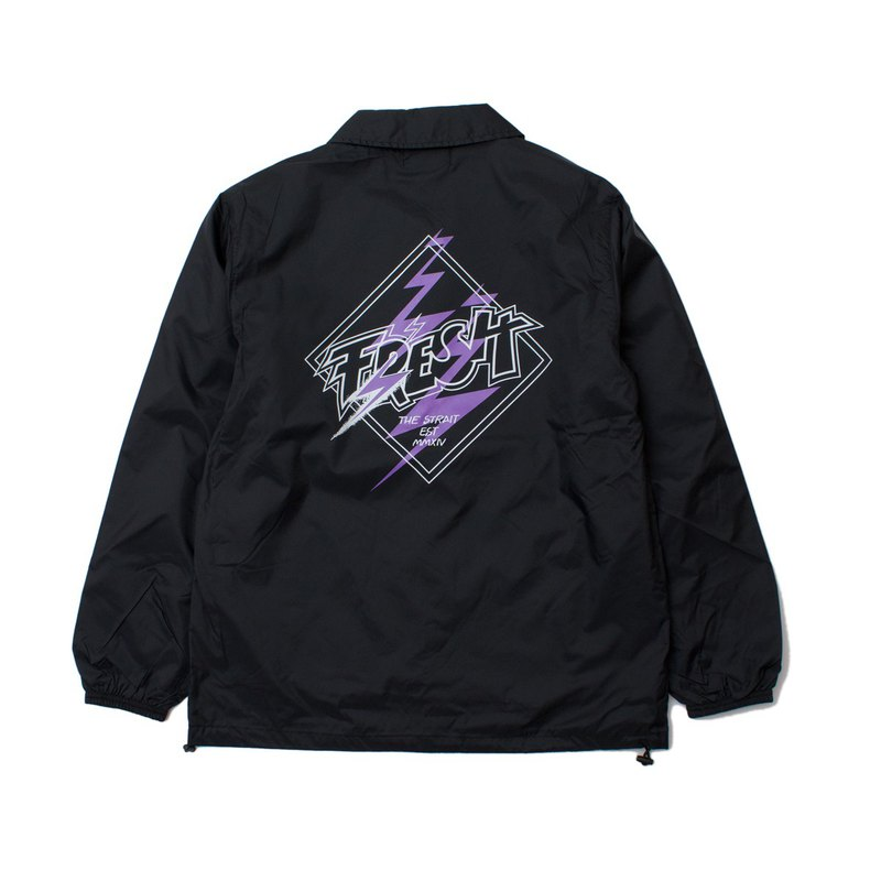 FRESH COACH JACKET # BLACK