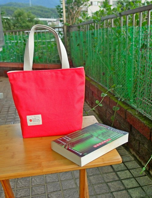 Plum Red Macaron Tote Bag Medium