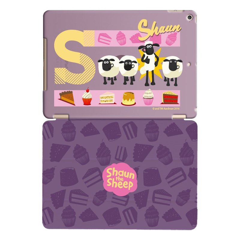 "Smiled sheep genuine authority (Shaun The Sheep) -iPad crystal shell: [] dessert party ""iPad / iPad Air"" Crystal Case (purple) + Smart Cover (purple)"