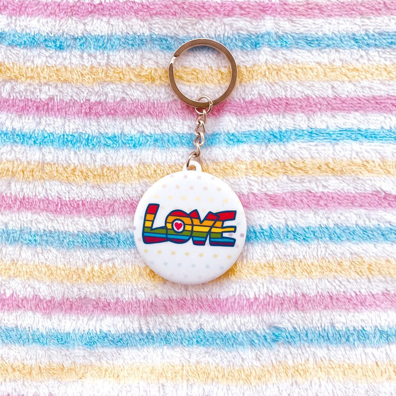 Rainbow Key Ring - Love LOVE LOVE LOVE