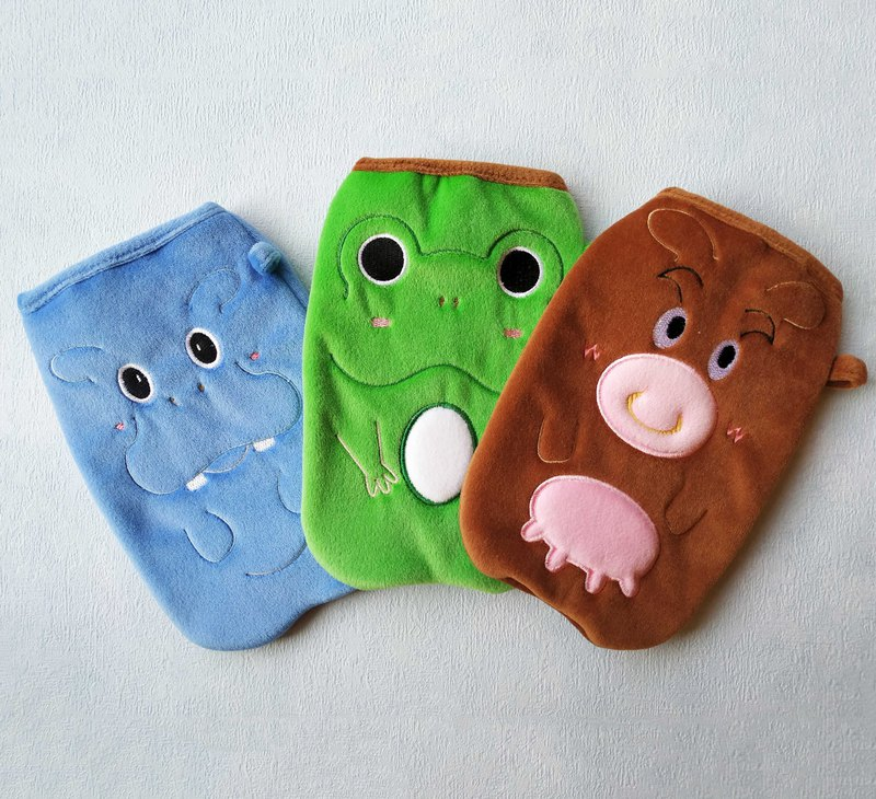 Mobile phone bag 6 吋 mobile phone - small hippo classmate │ find new lotus leaf frog │ 腼腆 Taiwan cattle
