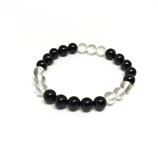 Brave without fear of steel heart obsidian white crystal
