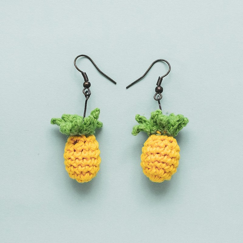 Earrings crochet fruit | The Pineapple