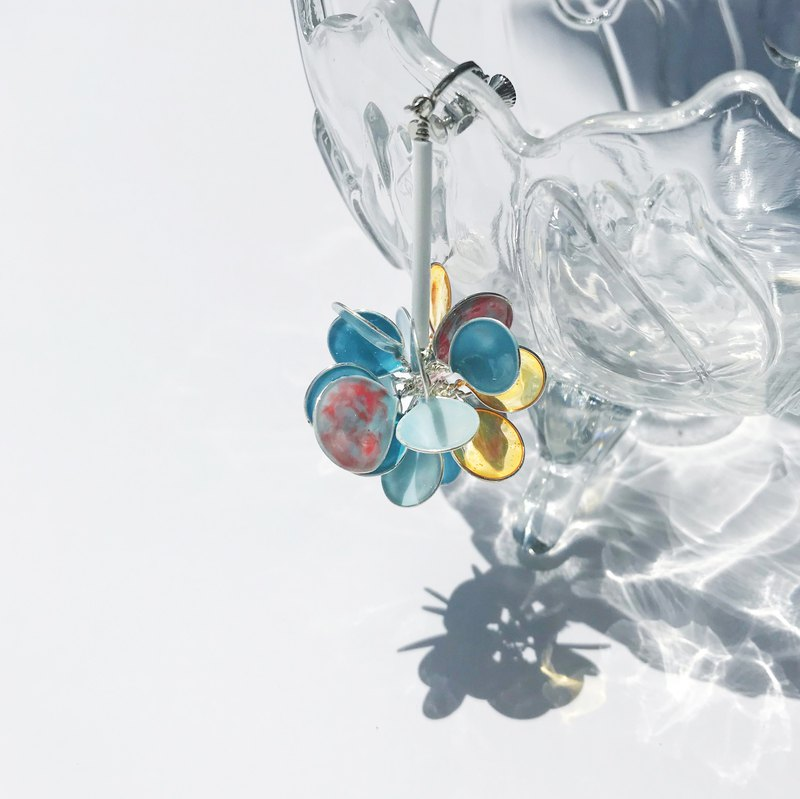 <傍晚>Universal style hand-designed resin earrings / hanging / earring / accessories