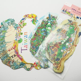 The island of Taiwan Cultural & Creative Postcard - four into a