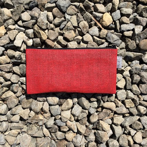 Paper Cord Pouch - Medium (Red)