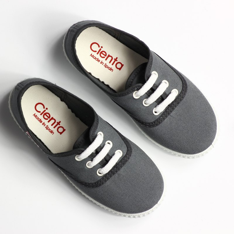 Spanish nationals canvas shoes CIENTA 52000 23 large gray children's shoes size