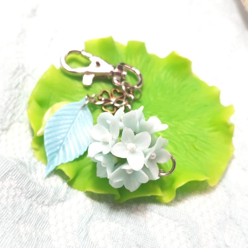 Pearl blue bouquet bag Charm Key Chains