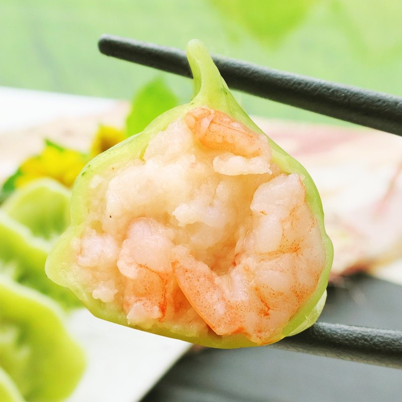 [Big sister handmade dumplings] popular hot mix - jade fresh shrimp dumplings three packs (total of 75)