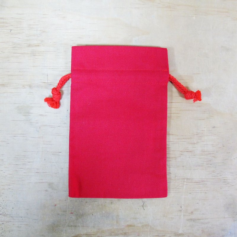 Solid color storage small canvas pocket pocket change bag