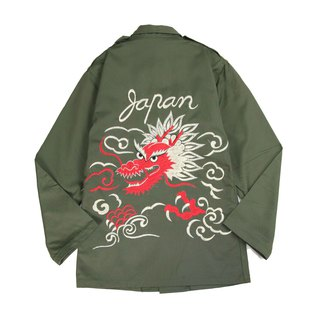 Tsubasa.Y vintage ancient military shirt with a floating cloud 002 , an embroidery military Shirt