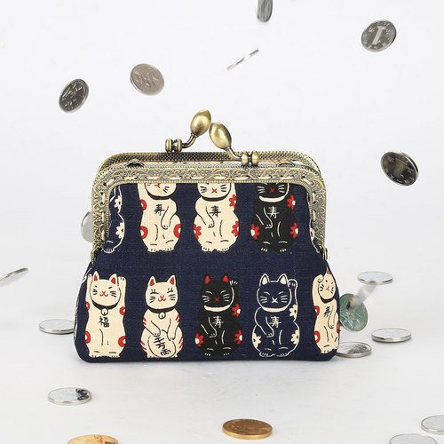Imported fabric coin purse retro bag gold bag cotton bag pure hand bag mouth package purse gift birthday design