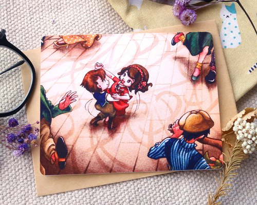 【Pin】Swing your greeting│Print│Birthday card with envelope at your choice