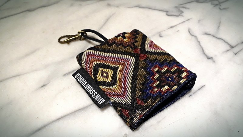 AMIN'S SHINY WORLD handmade custom ethnic style pattern key bag
