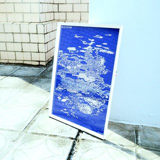 Sea level‧Reflective commemorative poster.