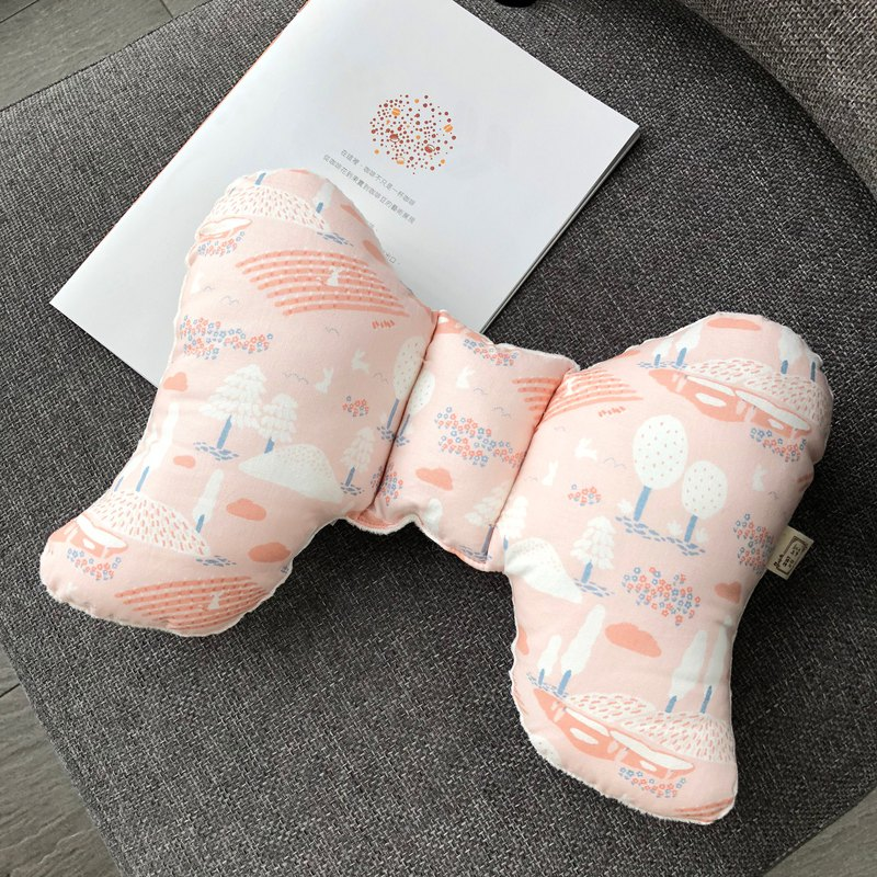 Quiet Pink Tree Korean Organic Cotton Handmade Baby Soothing Peas Pillow Moon Gift Box